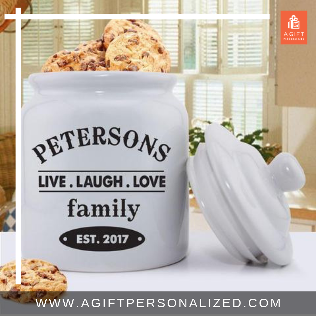 Personalized Cookie Jars Ceramic Live Laugh Love Ceramic Cookie Jar Personalized Cookie Jar Personalized Family Rules
