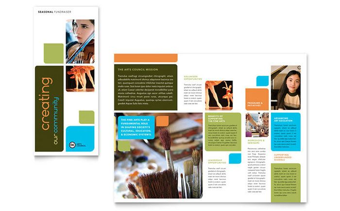 Adolescent Counseling Tri Fold Brochure Design Template by - sample college brochure