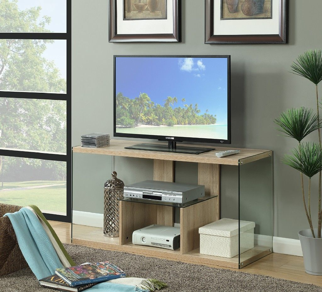 Soho Tv Stand Convenience Concepts 131590ww In 2021 Glass Tv Stand Convenience Concepts Tv Stand