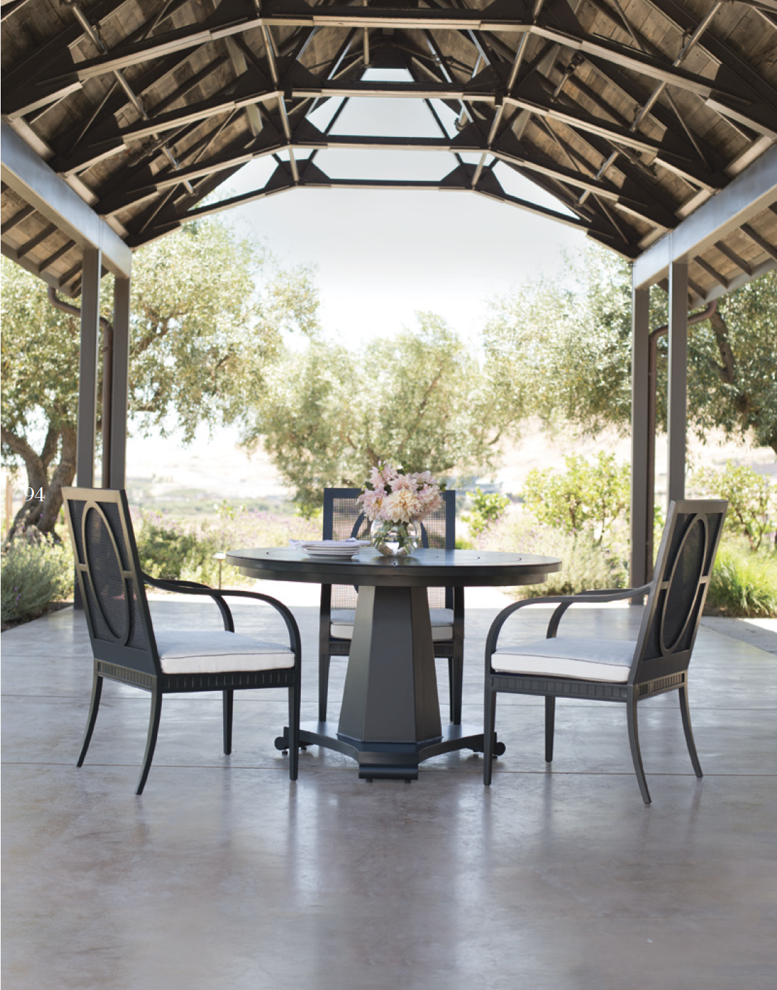 Stately and classic outdoor furniture | JANUS et Cie ... on Fine Living Patio Set id=73201