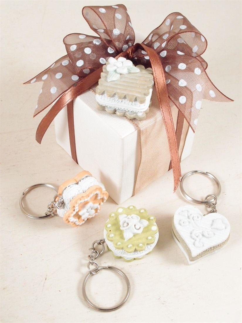 spesso Portachiavi a dolcetto per bomboniere matrimonio, comunione  XO01