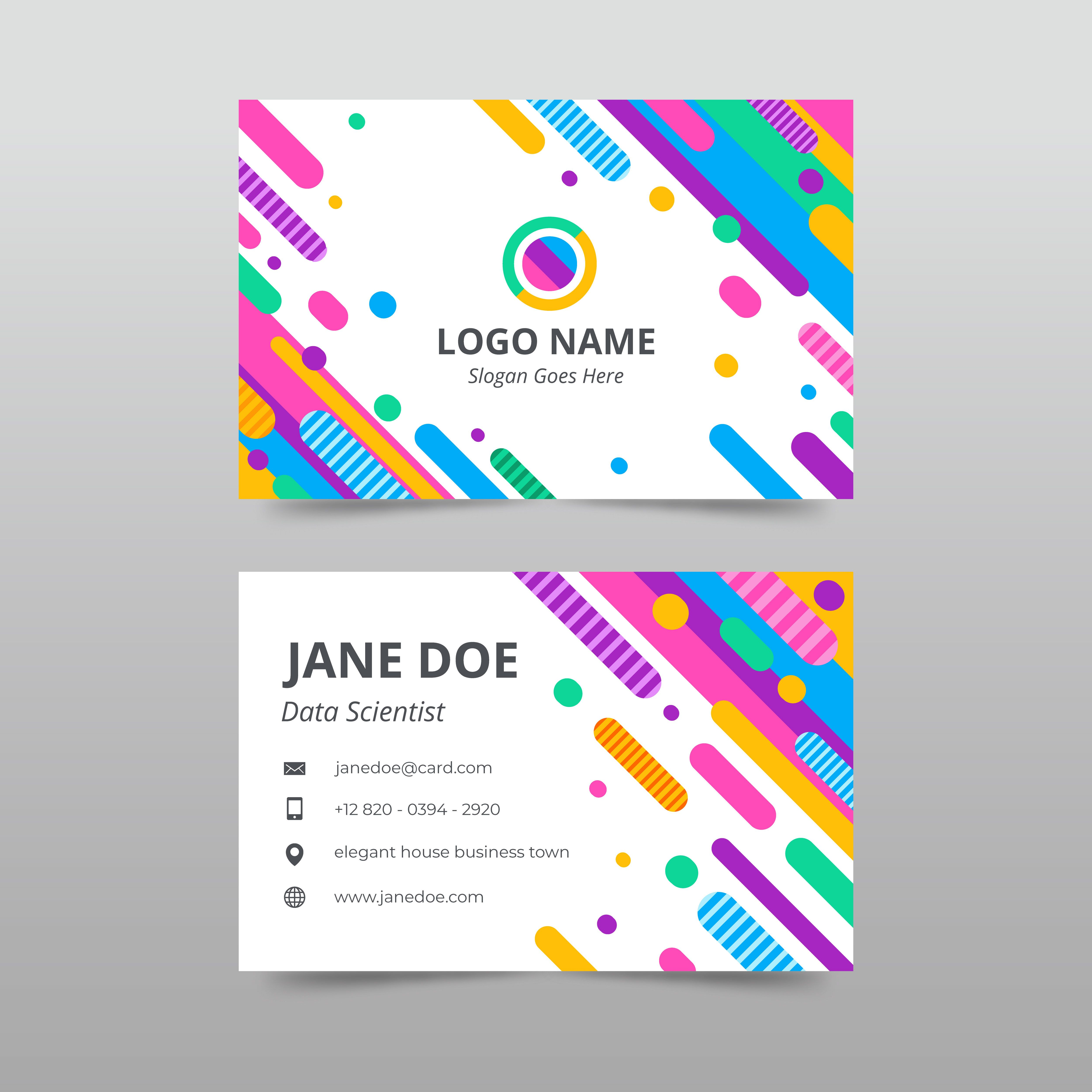 Hire Me For Making A Business Card Like This Colorful Business Card Business Cards Creative Modern Business Cards