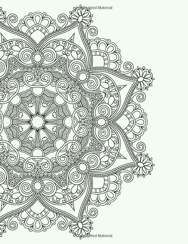 Such Wonderful Details Coloring Page Mandala
