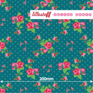 COUPON - Smila Roses - petrol  - BelleLien
