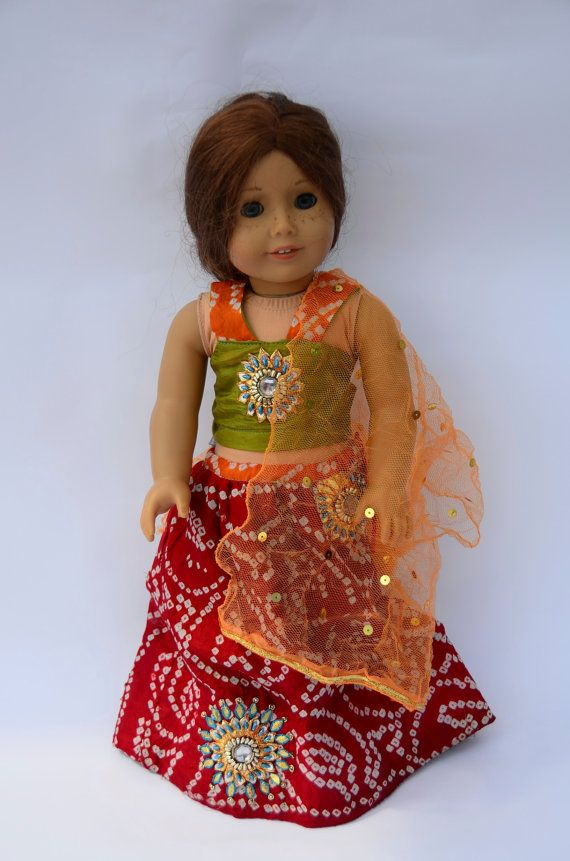 American Girl Doll Indian Princess Outfit | Tolle kleider, Puppen ...