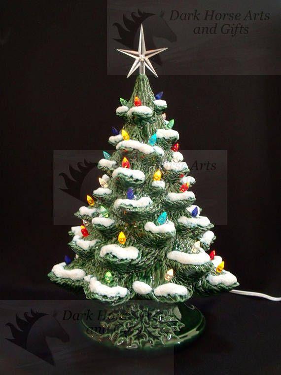 Winter Wonderland Ceramic Christmas Tree W Music Box 16 In