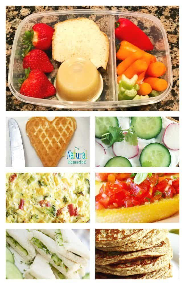 40+ Healthy Lunch Ideas for Kids {for Home or for Homeschool Co-op} - The Natural Homeschool