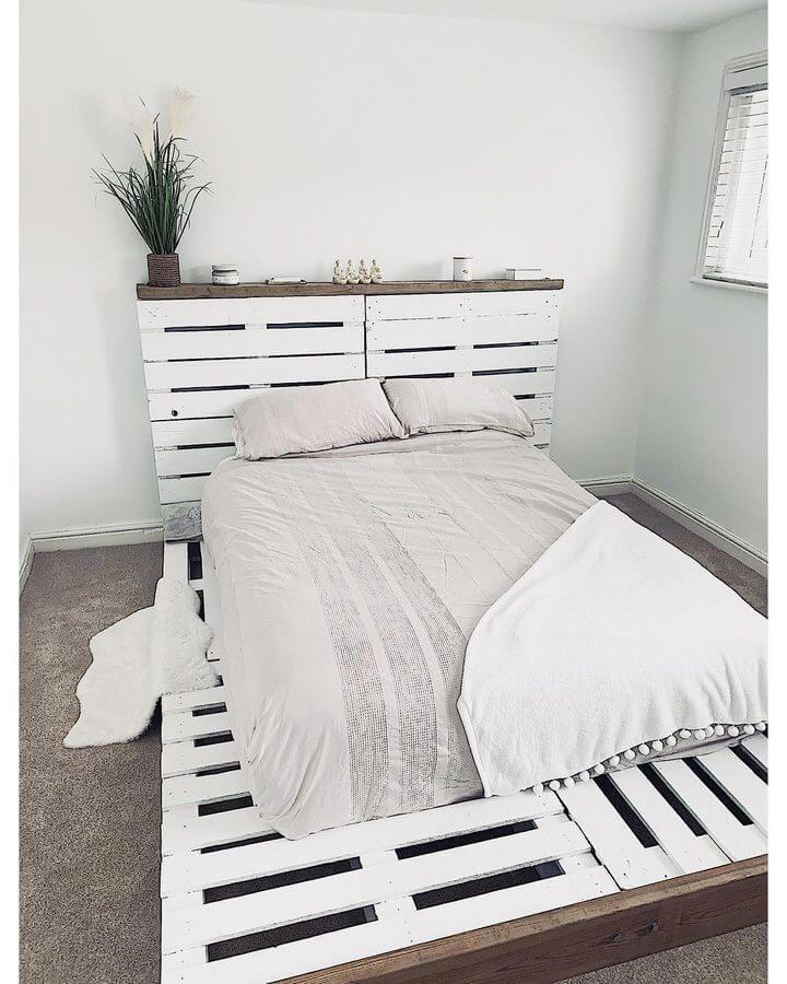 100 diy recycled pallet bed frame designs in 2020 diy
