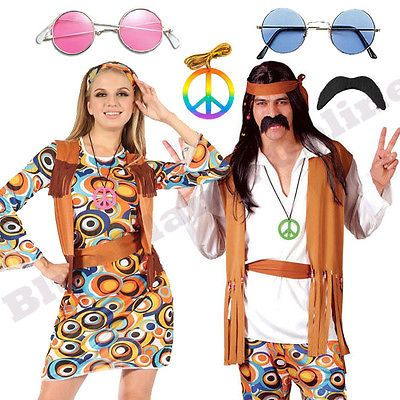 White Hippie 60/'s Costumes Accessories Mod Glasses