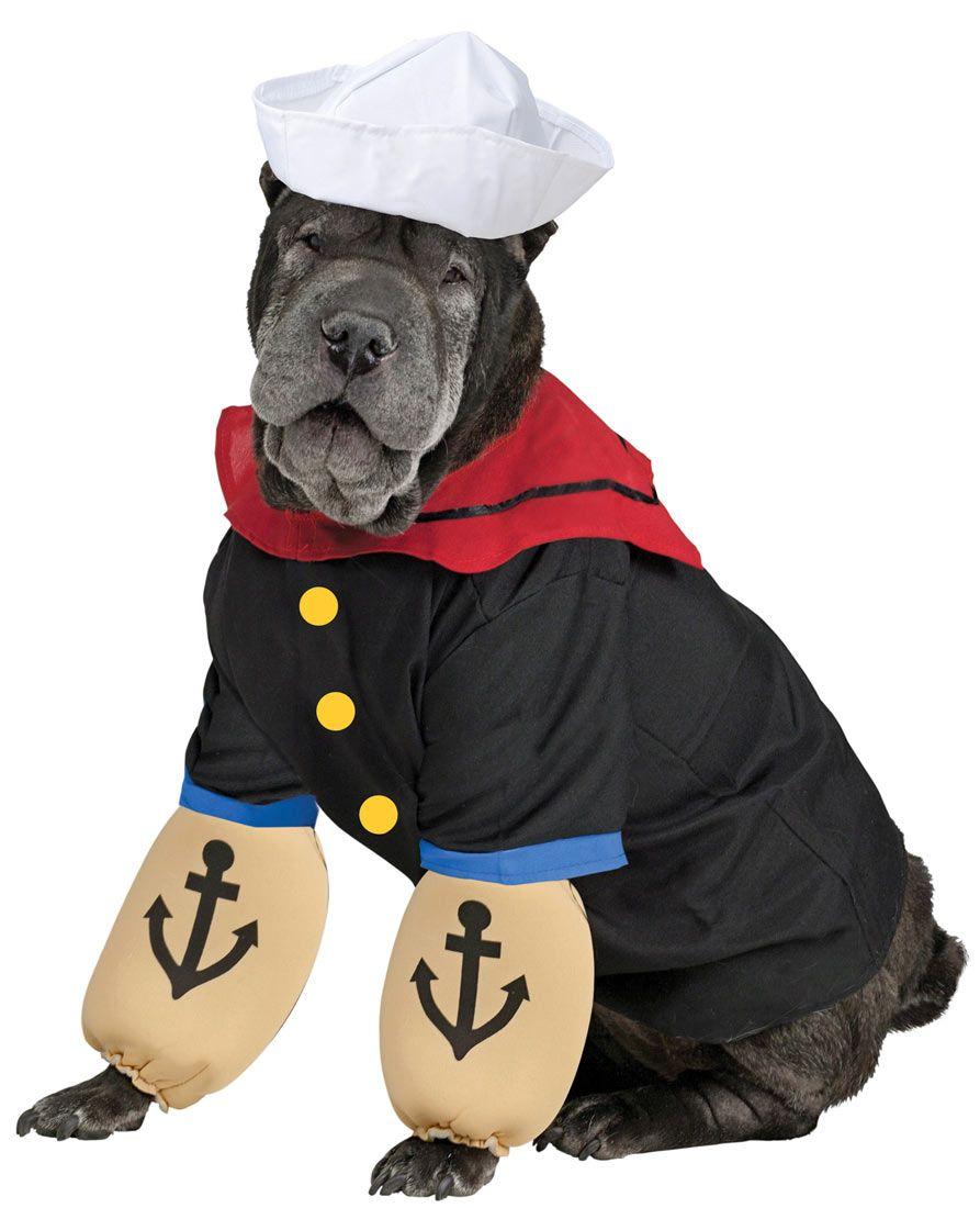 Pupeye Popeye Dog Costume Popeye Costumes Dog Costumes