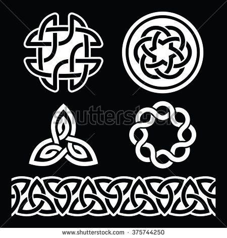 Celtic Irish Patterns And Knots Vector St Patricks Day Braid