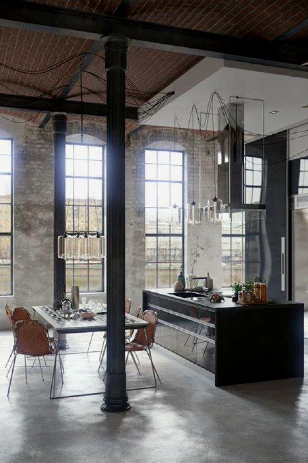 Stunning Industrial Style Decor Ideas That You Can Create For Your Urban Living Space Apartment Industrial Des Loft Interiors Loft Design Loft Interior Design