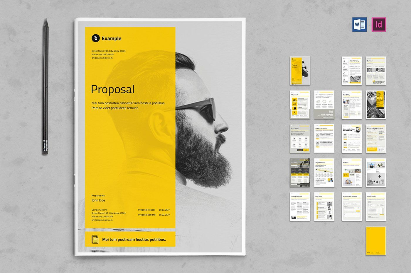 Proposal This Is A Modern And Powerful Template For A Proposal 20 Pages Possibility Of C In 2020 Business Proposal Brochure Design Template Portfolio Template Design