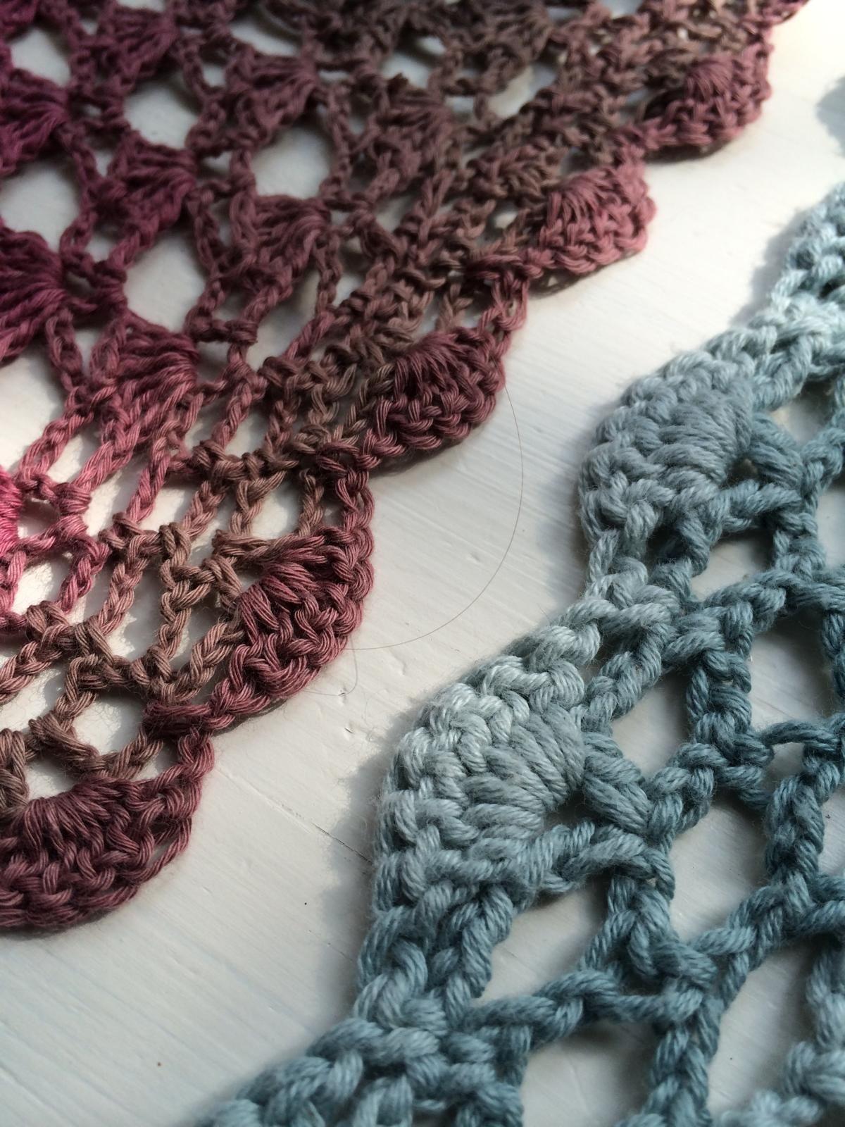 Fertig: Mein gehäkeltes Lace Dreieckstuch   Pinterest