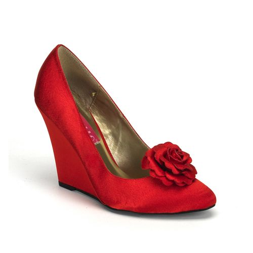 1000  images about Red Shoes on Pinterest | Red pumps Red wedge