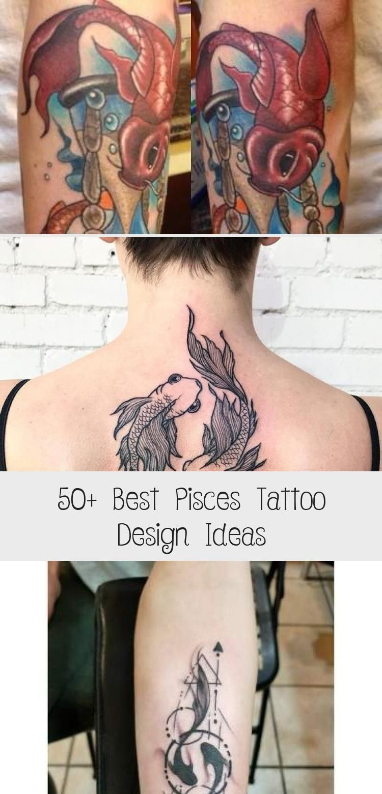 50 Best Pisces Tattoo Design Ideas Hike N Dip Sheisarttattoo Poparttattoo 50 Best Pisces Tatt In 2020 Pisces Tattoo Designs Pisces Tattoos Tattoo Designs