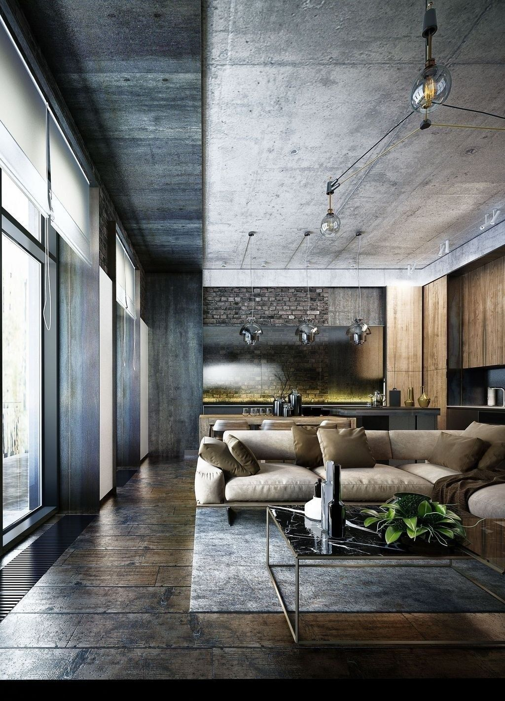 37 Luxury Industrial Style Living Room Design Ideas Industrial Living Room Design House Ceiling Design Living Design