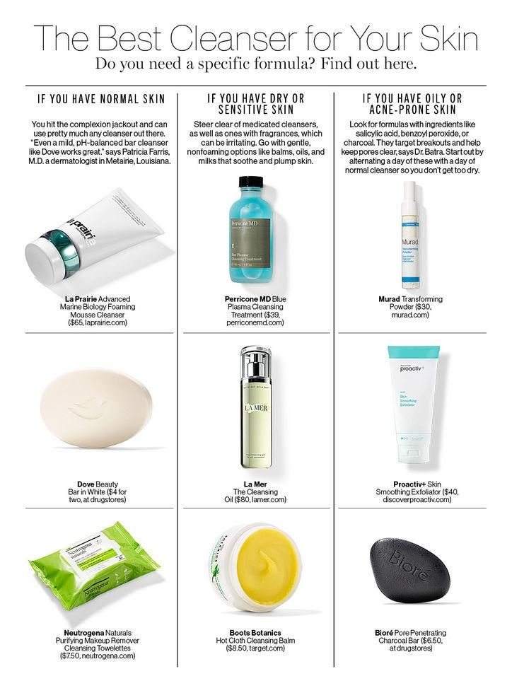 The Best Cleanser For Your Skin Type Skin Cleanser Products Dry Skin Care Oily Skin