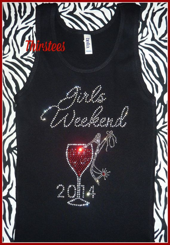 Rhinestone Girls Weekend Shirts Birthday Night Out By Thirstees Girl 50th