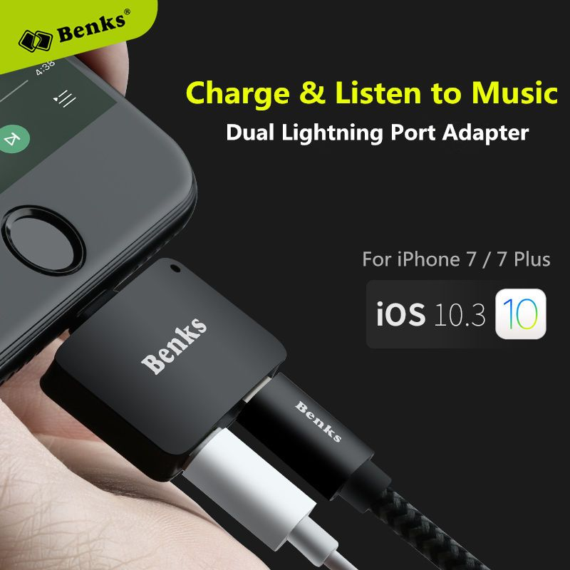 competitive price 96b7d 70857 $10.99 AUD - Benks Dual Lightning Port Charge & Listen To Music ...