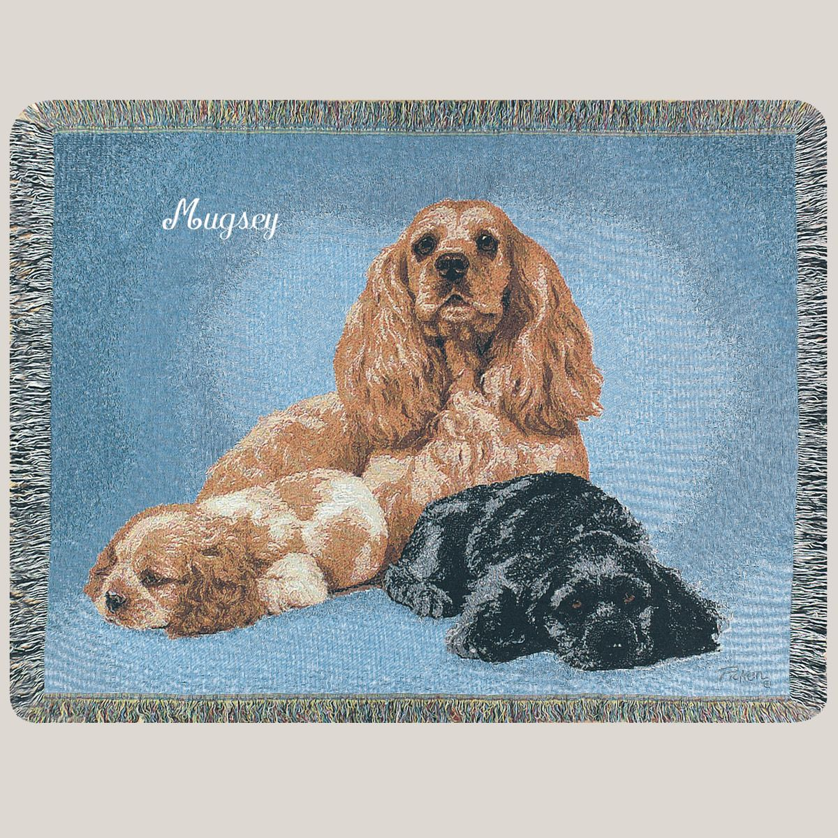 Personalized Medium Dog Breed Tapestry Throw-Furniture