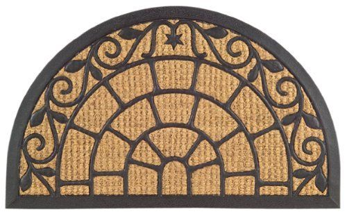 Imports Decor Half Round Rubber Back Coir Doormat Crown Design 21 Inch By 30 Inch By Imports Decor 21 00 Molded Into A Vari Coir Doormat Door Mat Coir Mat