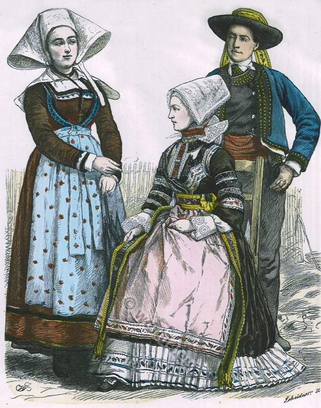 French Country Clothing Part - 39: French Traditional Clothing Consisted Of Dresses, Skirts, Pants, Stylish  Hats And Many More