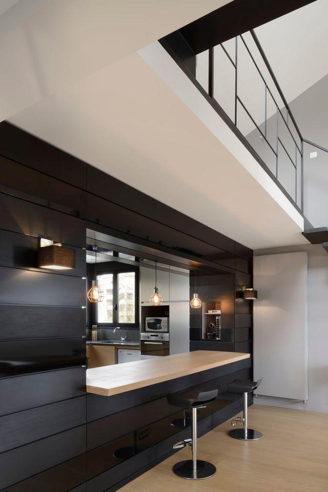 cuisines semi ouvertes sur le salon ou la salle a manger cote maison