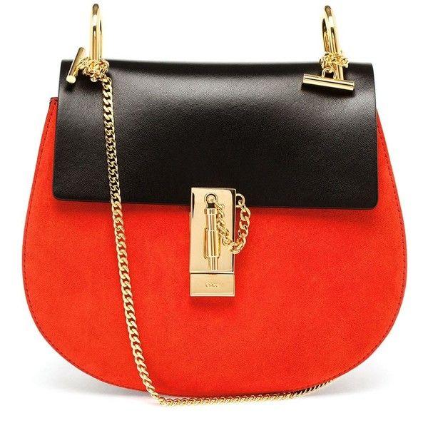 Chloé Small Bi-Colour Drew Bag ($1,340) ❤ liked on Polyvore