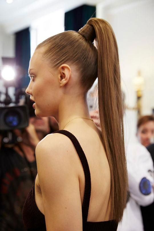 5 Genius And Cute Ways To Update Your Ponytail High Ponytail Hairstyles Runway Hairstyles Hair Styles