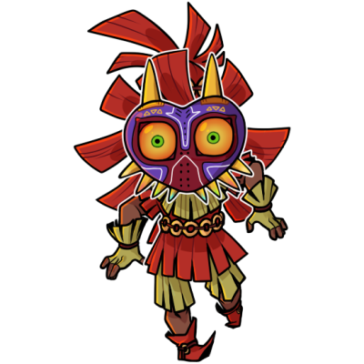 Legend Of Zelda Majora S Mask Art Skull Kid Legend Of Zelda Majoras Mask Art Anime