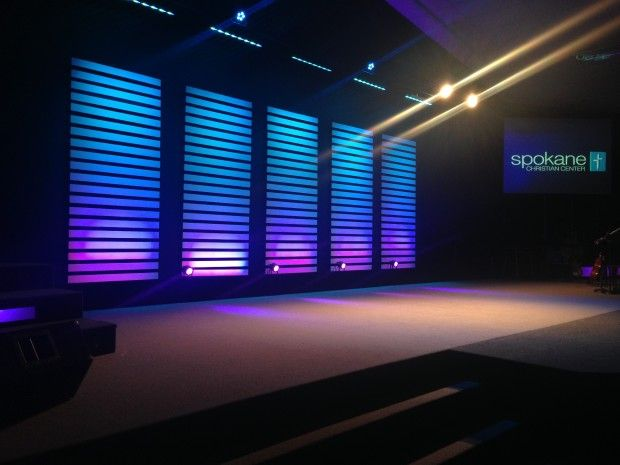 Slat Stacks With Images Church Stage Design Church Stage