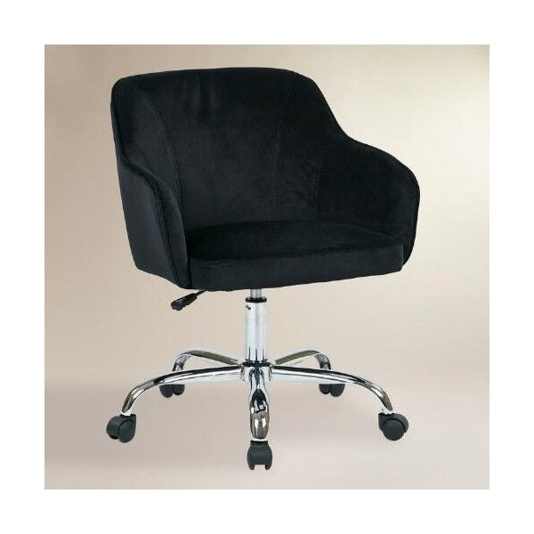 Cost Plus World Market Black Velvet Jozy Home Office Chair 200 Liked On