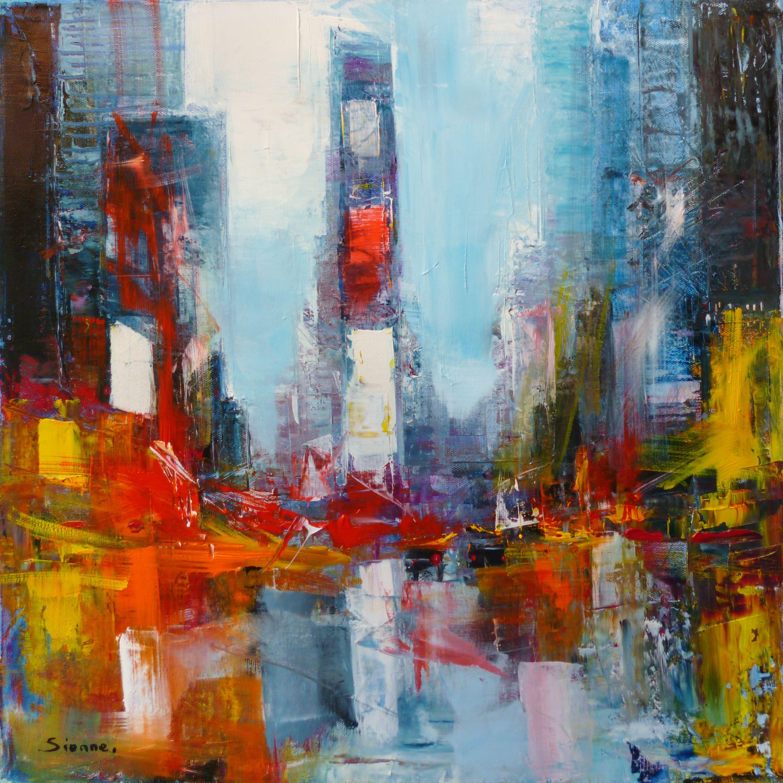 Tableau Times Square Par Sienne Ny Art Peinture Sienne