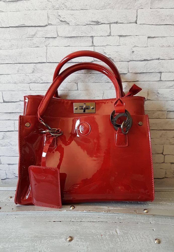 ramasser qualité et quantité assurées bons plans 2017 Sac en bandoulière Breal Verni Rouge | #handbag | Sac ...