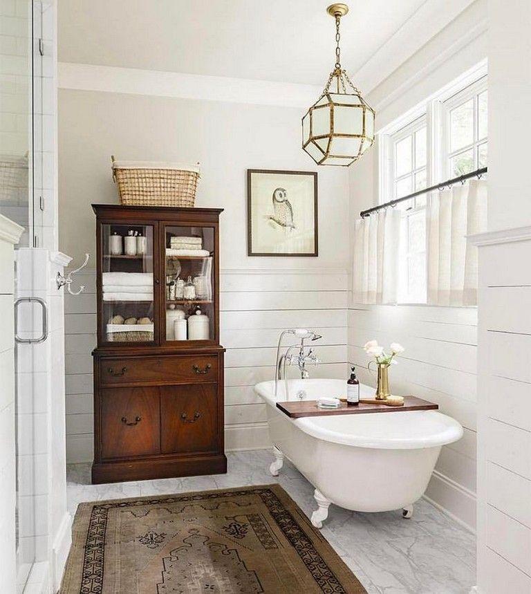Claw foot tub || 48 Brilliant Ideas For Vintage Bathroom ...