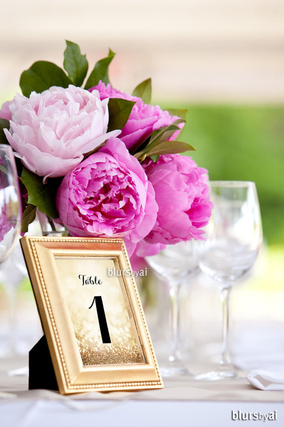 4x6 printable gold table numbers 1 40 wedding table numbers