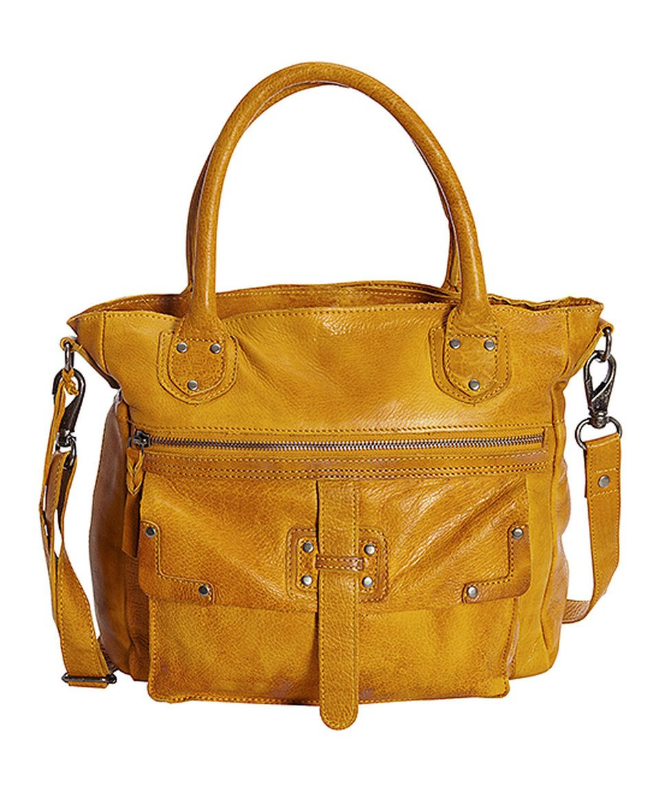ed6a9c8e75 Take a look at this Latico Leather Yellow Walker Leather Tote today ...