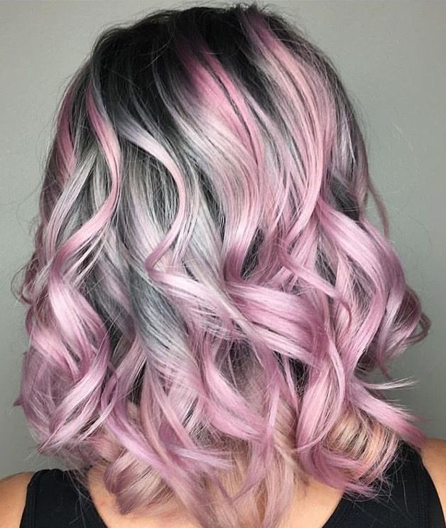 Pink And Silver Hair Pink Ombre Hair Rose Gold Hair Shades