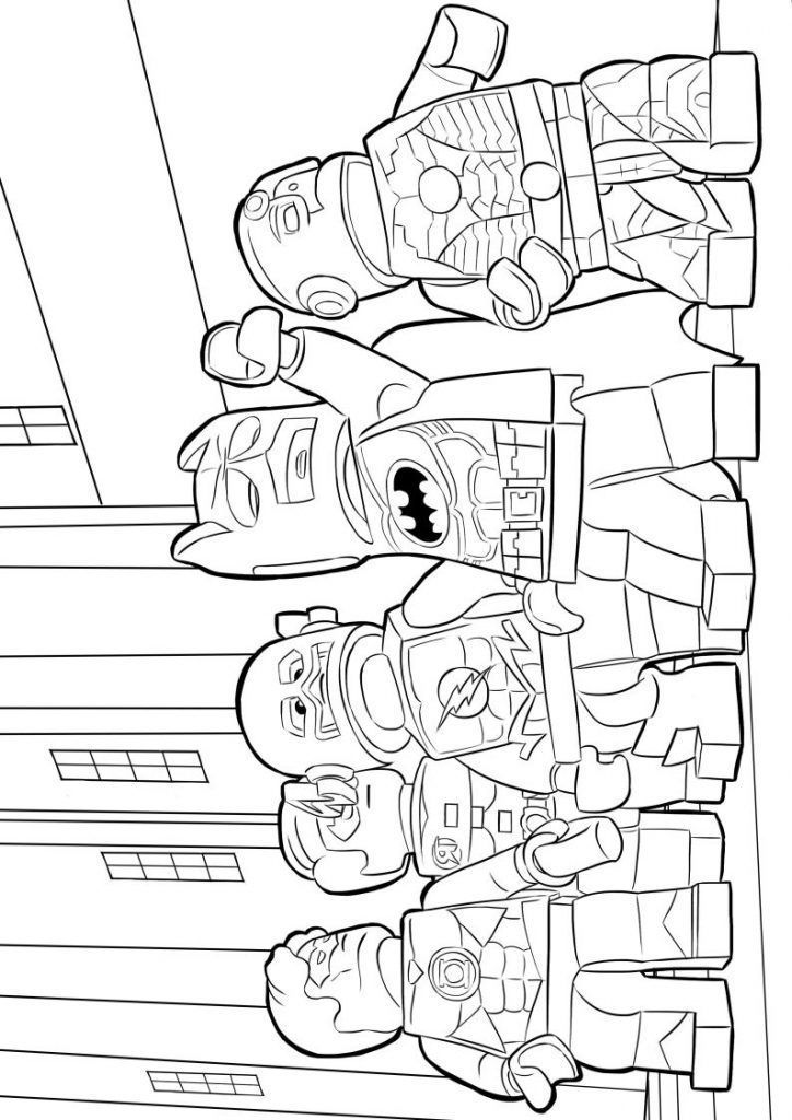 already colored lego superhero coloring pages best