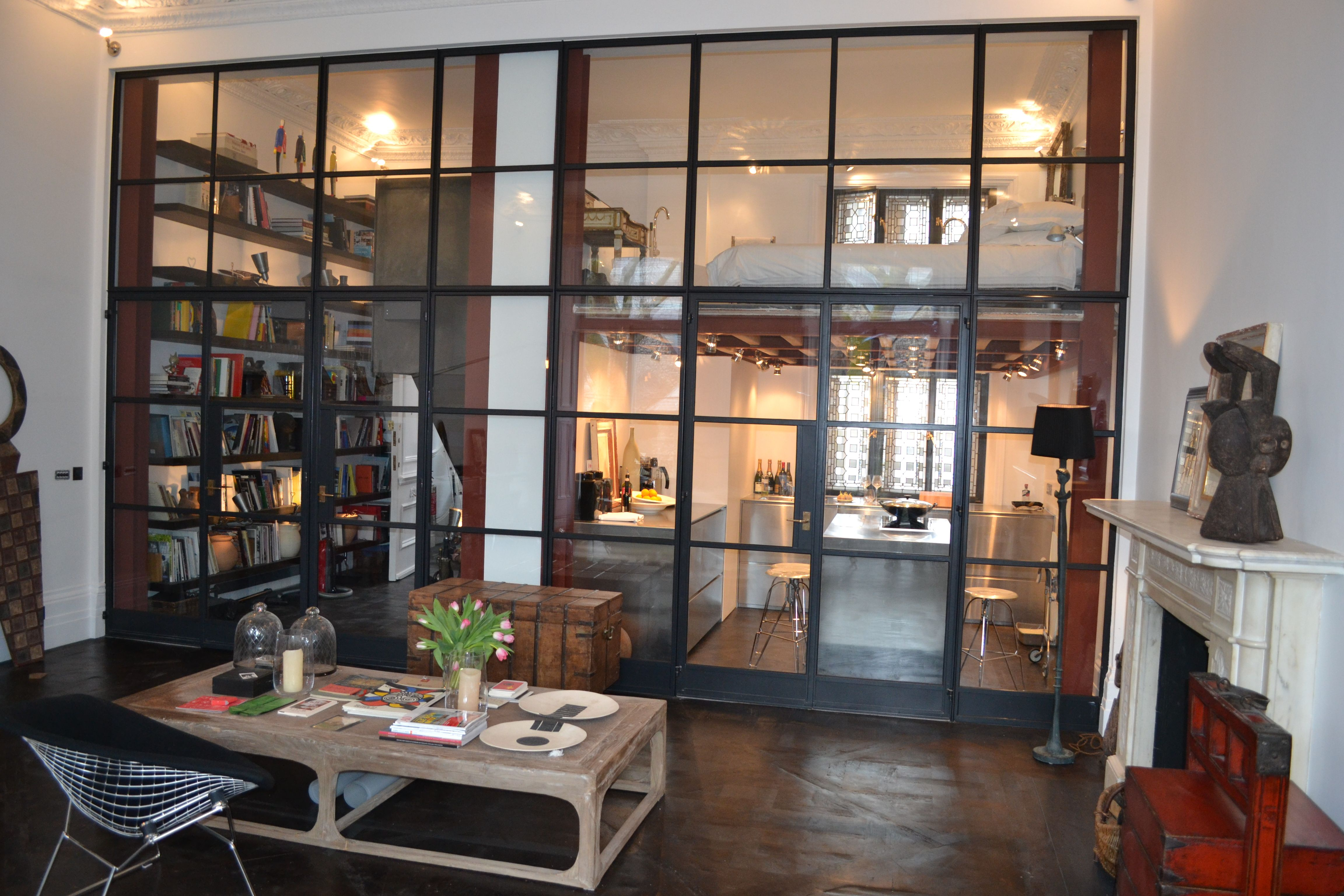 A Crittall door screen a beautiful way to divide your living space