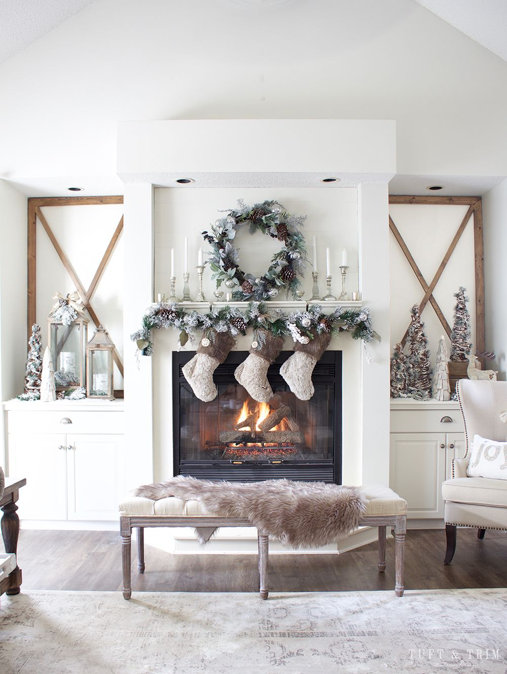 Rustic Chic Christmas Decor Tour. French Farmhouse Holiday Decor ...
