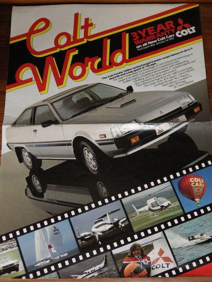 COLT WORLD Original 1983 CAR BROCHURE Old Car Brochures  Mags
