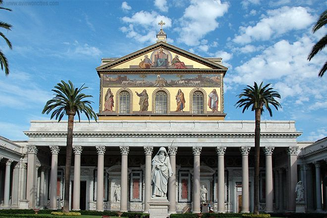 St Paul S Outside The Walls In Rome Rome Pictures Rome Architecture