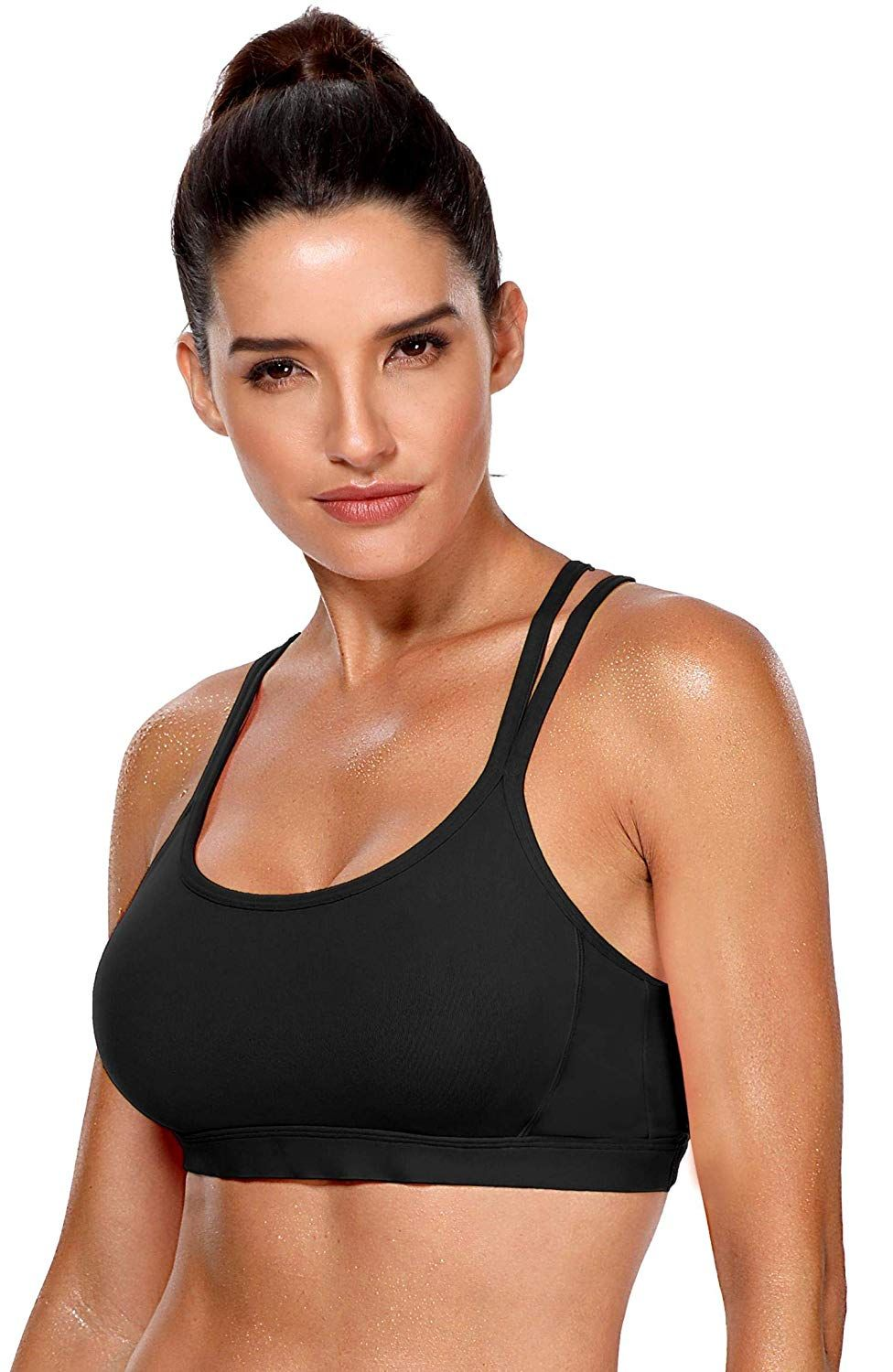 e7ad2a37eaf Champion Women s Curvy Strappy Sports Bra at Amazon Women s Clothing store