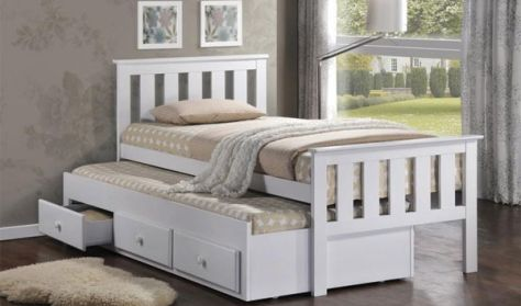 Kids Bedroom Nz captain trundler bed | single beds | kids room - furniturecity.co