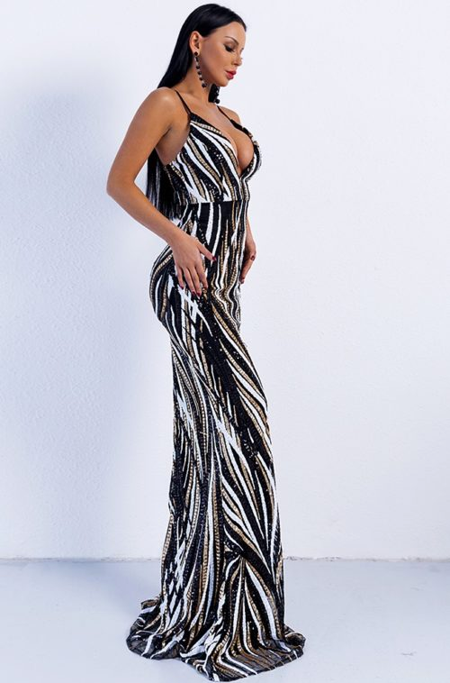 Elizabeth Sequin Evening Gown Sequin evening gowns