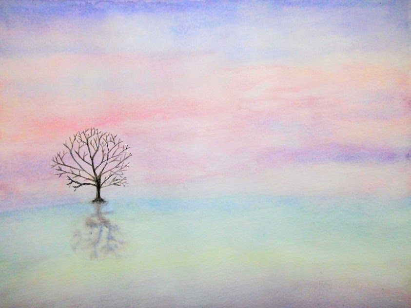 Progressons Ensemble A L Aquarelle Paysage Pastel Paysage