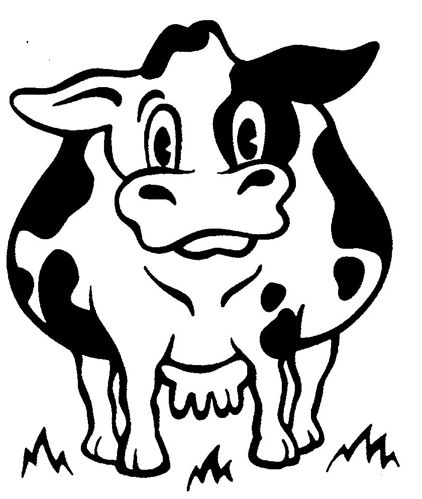 dairy farm coloring pages | Dairy Cattle Drawing | dairy cattle Colouring Pages ...