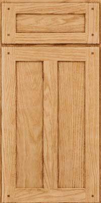 KraftMaid Cabinets -Square Recessed Panel - Veneer (MKO) Oak in Natural from waybuild